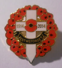 1918 to 2018 100th Anniversary WW1 In Packaging ENAMEL POPPY PIN BADGE