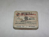 VINTAGE MEDICINE E W GROVE BRO MO QUININE COLDS HEADACHES TIN