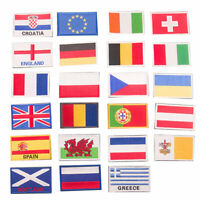 National Flag Embroidered Patches Sew Iron On Clothes Bag Hat Badge Applique DIY