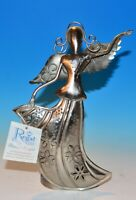 """Regal Art & Gift 10"""" Flower Angel with Candle Holder w/tag 2010 - 11 years old"""