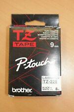 1 x Brother TZ TAPE TZ-221 9mm black on white 8m original Neu OVP