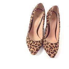Dolce & Gabbana Block Heels Leopard Cheetah Pony Hair Pump Size 37.5 Tan Career