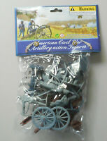 54mm Civil War Union Confederate Artillery Plastic Toy Soldier Figures 98516