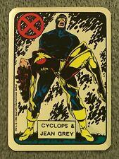 1992 Marvel Entertainment CYCLOPS JEAN Red X Vending Foil Non Prism Sticker Card