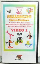 VIDEO 1-2-3 PALLONCINI NUOVE SCULTURE VIDEOCASSETTA VHS MODELLARE PALLONCINI