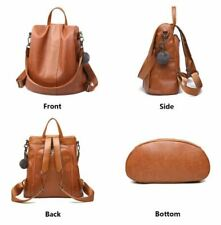 HERALD Quality Leather Anti-theft Women Backpack Large Capacity Brown colour