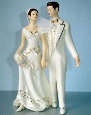 Lenox Bride & Groom Cake Topper Just Married Figurine Handpainted New In Box