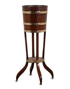 Coopered Oak & Brass Bound Jardinière