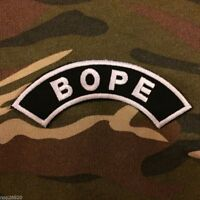 BOPE HALF MOON PATCH IRON ON POLICE TROOP BRAZIL ELITE SQUAD SPECIAL OPERATIONS