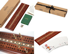 Luxury Cribbage Set with Premium Cards and Metal Pegs - Jaques of London