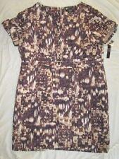 NEW! $149 Alex Marie size 20W plus size womens dress brown beige short sleeve