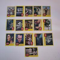 Star Wars 1977 Yellow Trading Cards Lot of 17 Darth Vader, Ben Kenobi