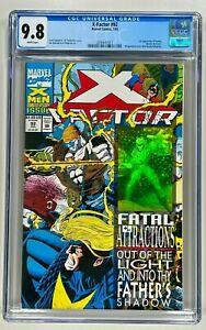 X-FACTOR #92 CGC 9.8 NM/MT (MARVEL1993) 1ST APP EXODUS WRAPAROUND HOLOGRAM COVER
