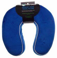 Neck Support Plush Travel Pillow Memory Foam Blue Relaxation Worlds Best U Shape