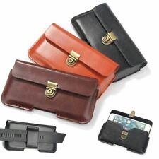 Cinturón de cuero de Lujo Bolsa Práctico paquete Funda Funda Cubierta para iPhone/Samsung