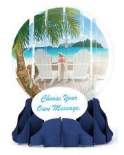 3D Pop Up Snow Globe Greeting Card - BEACH - #UP-WP-EG-013