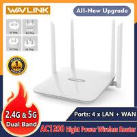 Wavlink AC1200 Dual Band Gigabit WLAN Wireless Router WIFI 2.4GHz&5GHz 4xLAN AP
