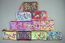 Wholesale 10PCS Gorgeous Handmade Embroider Zipper Wallet Coin Purses Phone Bags