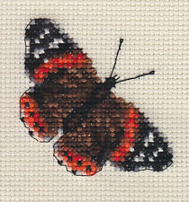 RED ADMIRAL BUTTERFLY ~ COMPLETO CROSS STITCH KIT + tutti i materiali