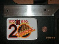 "Vancouver Canucks 1970-1990 20th NHL Anniversary 4"" Patch Hockey"