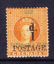 GRENADA QV 1886 SG37e 1d on 11/2d opt error 'HALH' m/m signed on reverse cat£300