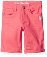 Childrens Apparel U.S US Polo Assn Little Girls Twill Bermuda Pick SZ//Color.