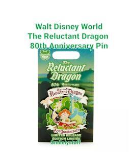 Genuine WALT DISNEY WORLD The RELUCTANT DRAGON 80th Anniversary PIN