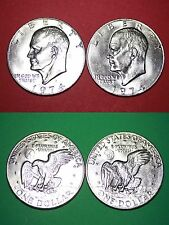 1974 P D Uncirculated Clad Eisenhower Ike Dollars Flat Rate Shipping
