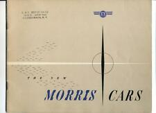Vintage 1949 New Morris Cars Catalog, 24 pages, Illus Morris Minor, Oxford, Six