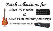 Patches - Tones Pack for Line 6 JTV and Line6 POD HD 500 (X), HD PRO (X)