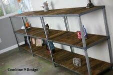 Bookcase. Reclaimed Wood and Steel. Custom Configurations. Rustic/Industrial