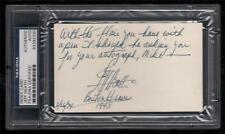 Jeff Heath d.1975 signed autographed index card  PSA auto Indians & 1948 BRAVES
