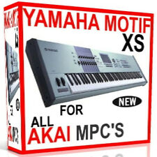 YAMAHA MOTIF XS SAMPLES AKAI MPC 2500 5000 4000 2000 1000 4000 3000 500 7 DVD'S