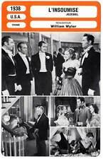 FICHE CINEMA : L'INSOUMISE - Davis,Fonda,Brent,Wyler 1938 Jezebel