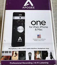 Apogee ONE, studio-quality audio interface and microphone for iPhone,iPad & Mac