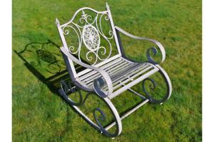 Antique Style Rocking Chair Metal Garden Chair Industrial Rocking Chair 4846s