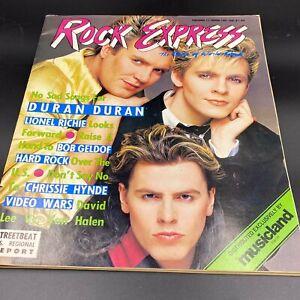 Vintage Rock Express Magazine Duran Duran Feb 1987 Chrissie Hynde Musicland BK18