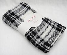 Modcloth Blanket Scarf 55x55 Black White Gray Washable Acrylic New