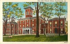 1948 Main Hall, Wabash College, Crawfordsville, Indiana Postcard