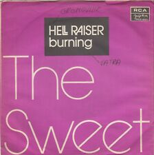 "THE SWEET HELL RAISER / BURNING RARE 1973 RECORD YUGOSLAVIA 7"" PS"