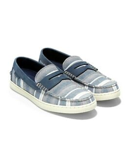 Brand New Cole Haan Women Nantucket Loafer Shoes...size 7.5M...Navy Stripe