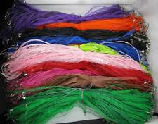 Wholesale Lots 50/100Pcs Organza Ribbon Cord Lobster Clasp Necklaces Adjustable