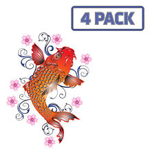 Red Koi  Carp Fish Aquarium Fishing Fish  Sticker Vinyl Decal 1-1362