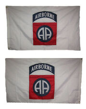 3x5 Embroidered Airborne 82nd Division Double Sided 210D Nylon Flag 3'x5'