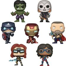 Official Marvels Avengers Game Iron Man Captain America Funko Pop Vinyl Figures