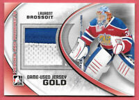 2011-12 Laurent Brossoit ITG In The Game Heroes and Prospects Jersey Gold /10