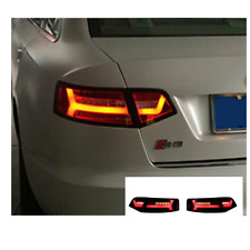 LED Tail Lights For Audi a4 2009-2012 Sequential Signal Red Replace OEM