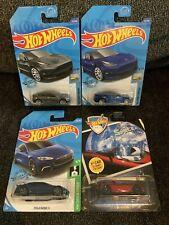 Hot Wheels Tesla Model 3, Model S, '08 Tesla Roadster (Lot Of 4)