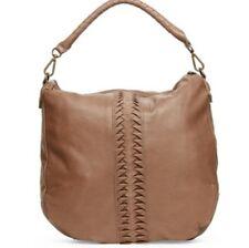 Liebeskind Women's Hobo Tote Messenger Crossbody Laptop Bag Beige Leather
