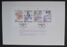 Sweden 1986 Stockholmia '86 Booklet Pane with Ameripex 86 Stamp